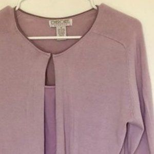 Lavender Cardigan with free Camisole, sz M